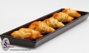 Mini croissants au chorizo et à la féta