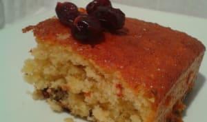 Gâteau Léger Cranberries Pépites de Chocolat