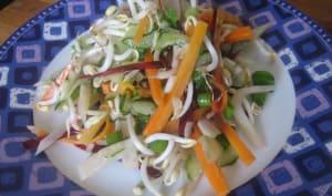Salade de légumes primeurs et graines germées