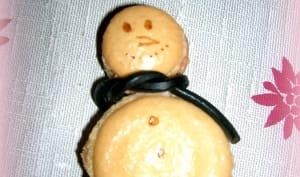 MACARONS BONHOMMES DE NEIGE MENTHE/CHOCOLAT