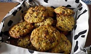Cookies banane, chocolat et flocons d'avoine