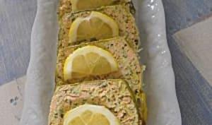 Terrine aux deux saumons et poireaux