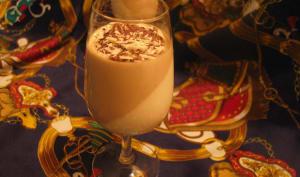 Pannacotta vanille café et copeaux de chocolats