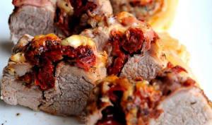 Filet mignon farcit à la mozzarella et tomates séchèes
