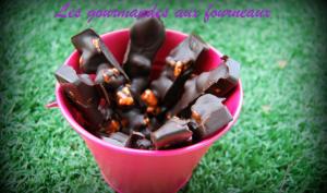 Barres au Chocolat noir et Pop-corn au carambar