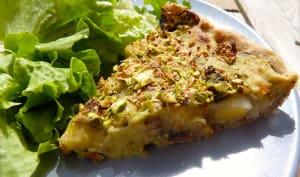 Tarte végétalienne asperges, champignons poireaux
