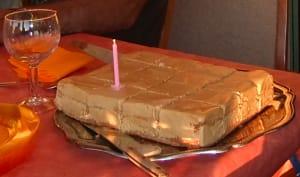 Parfait glacé à la chicorée, façon gâteau