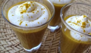 Cappuccino de carottes au Colombo