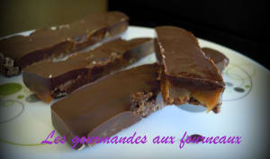 Barres Chocolat Caramel aux éclats de galettes St Michel