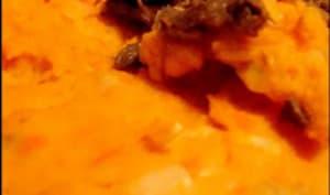 Parmentier de canard aux deux patates