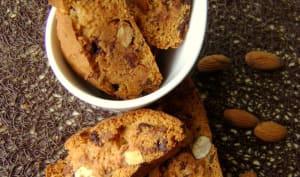 Biscotti aux amandes et pépites de chocolat