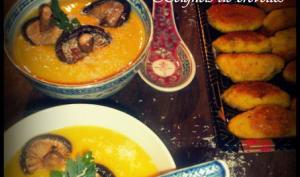 Velouté de potiron aux saveurs d'Asie & beignets de crevettes