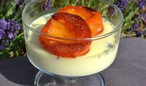 Panna cotta chocolat blanc / lavande / abricots