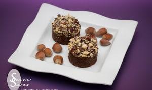 Fondant au chocolat en croûte de noisette