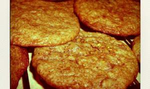 Cookies au praliné et éclats de pistache