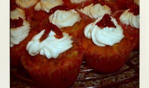 Cupcakes aux tomates séchées et au chèvre frais
