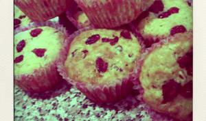 Muffins cranberries et coeur de coco