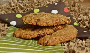 Cookies avoine / tonka / noisettes / chocolat