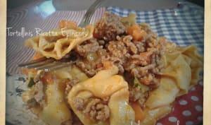 Tortellinis Ricotta-Epinard sauce bolognaise de légumes au cookéo
