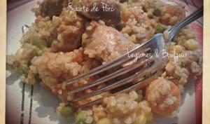 Sauté de Porc au Légumes et Boulgour au Cookéo