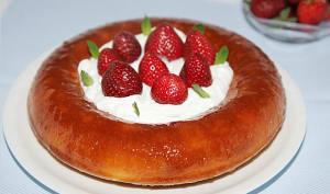 Savarin aux fraises