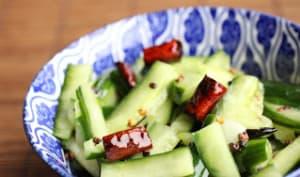 Salade de concombre comme au Sichuan
