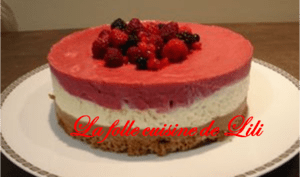 Gâteau au Chocolat blanc, Fruits rouges, croustillant au praliné et biscuit spéculoos
