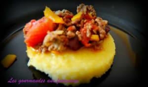Chili con carne et galettes de polenta