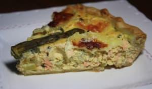 Tarte saumon et asperges vertes