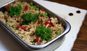 Salade de riz complet au thon