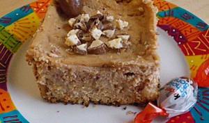 Cheesecake au kinder schokobon et biscuit spritz