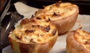 Pommes de terre farcies au maquereau, ricotta et thon