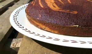 Zebra cake à la vanille - Amaretto et chocolat - orange confite