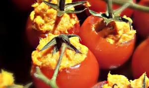 Tapa de tomates cerises au thon et au piquillo