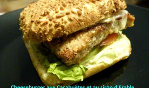 Cheeseburger aux cacahuètes et au sirop d'érable