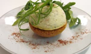Sphères de cheesecake au saumon
