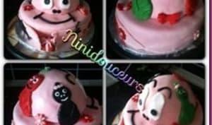 Gâteau 3D Barbapapa