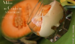 Melon au Cointreau et mascarpone