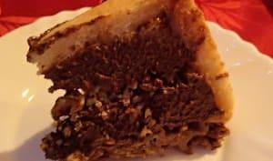 Charlotte au chocolat-caramel-noisettes base rose des sables