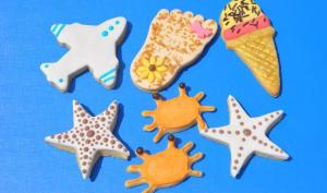Biscuits sur le thème de la plage