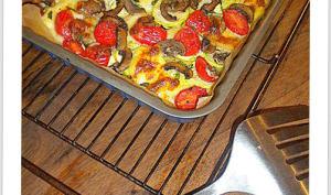 Polentarte aux légumes grillés et basilic