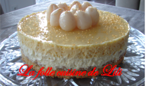Gâteau croustillant chocolat blanc mangue