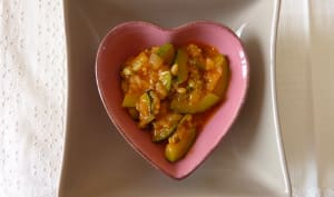 Courgettes au paprika fumé et marmelade d'orange