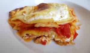 Lasagnes tomate courgette et crème de chèvre