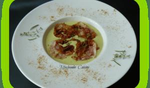 Velouté dAvocat Froid à la Pancetta Croustillante et