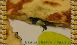 Naans chèvre - basilic