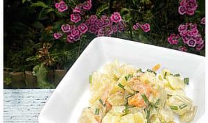 Salade de côtes de bettes et saumon