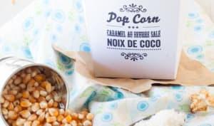 Pop Corn Caramel au Beurre Salé et Noix de Coco