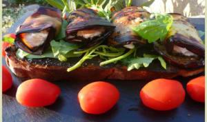 Bruschetta aux aubergines à la plancha