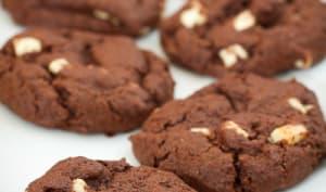 Cookies au chocolat et aux pépites de chocolat blanc